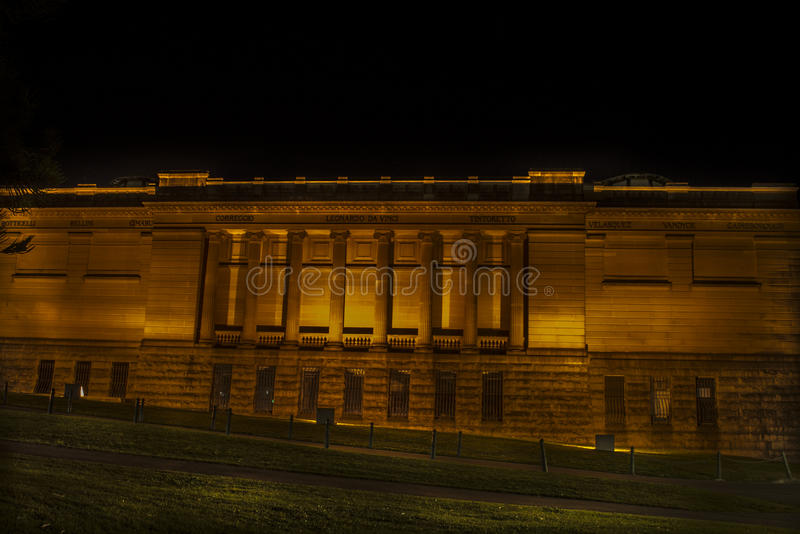 Night view of a building in Sydney CBD. royalty free stock photography