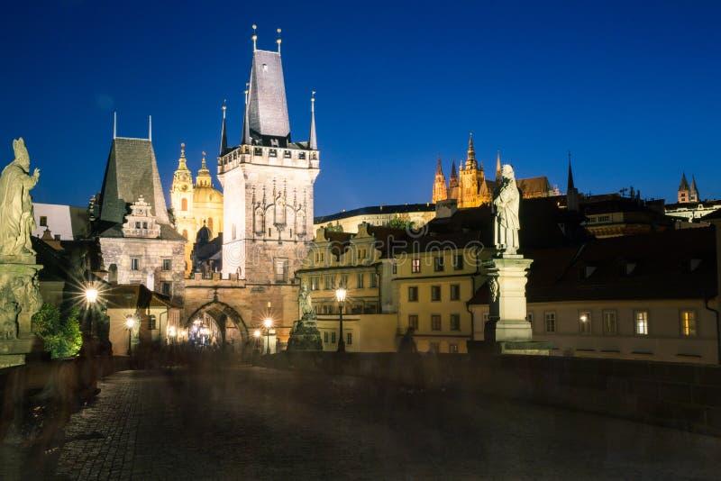 Download Night View Of The Charles Bridge In Prague. Stock Image - Image: 32883131