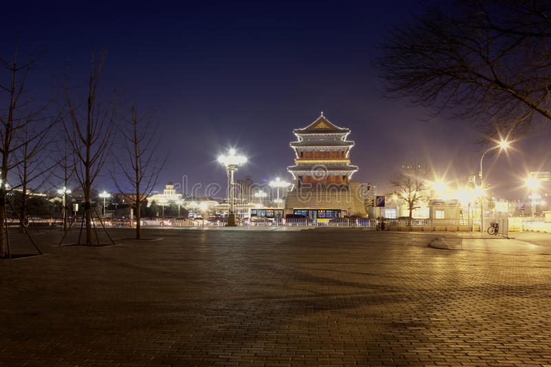 Download Night View Of Chinese Tower Building Stock Photo - Image: 23498880