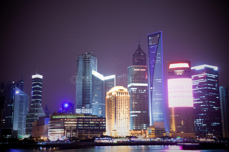 Night view of city royalty free stock photography