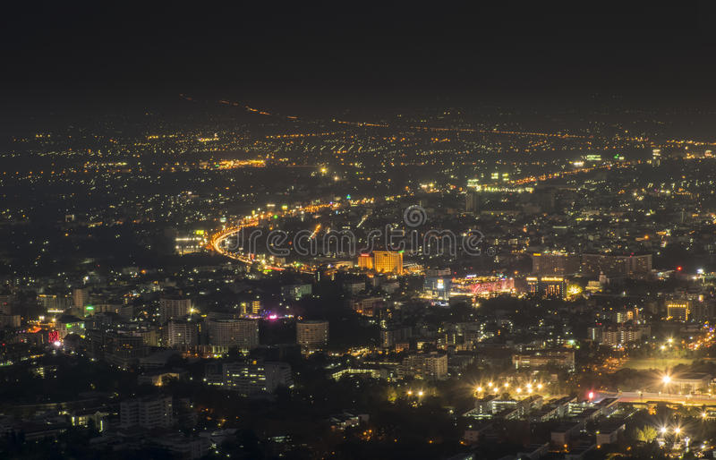 Night View at City Landscape royalty free stock photo