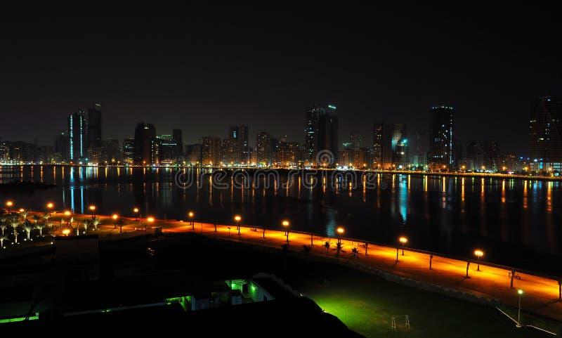 Download Night View of Dubai stock photo. Image of national, night - 4058706
