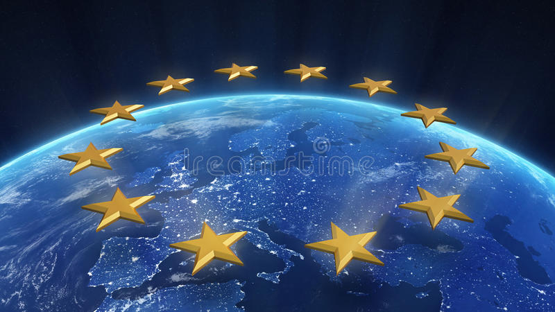 Download Night view of Europe stock illustration. Image of night - 26018265