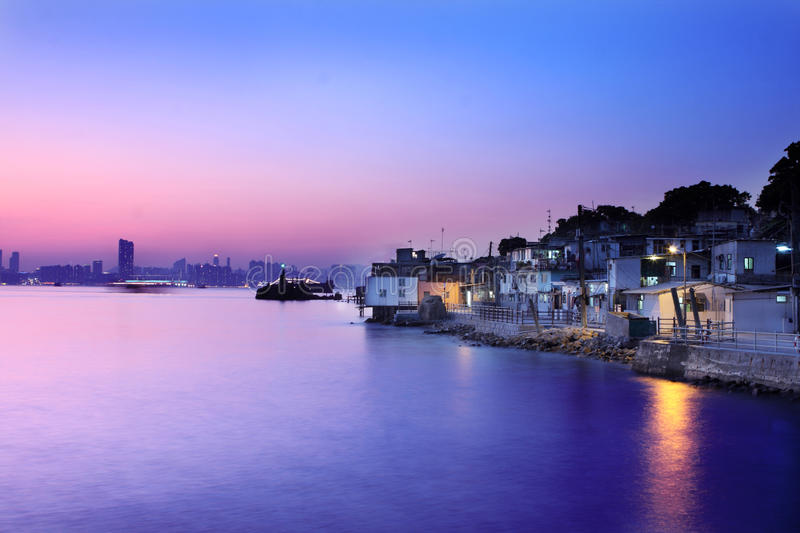 Download Night View From Fishing Village Stock Photo - Image of colorful, fish: 18628786