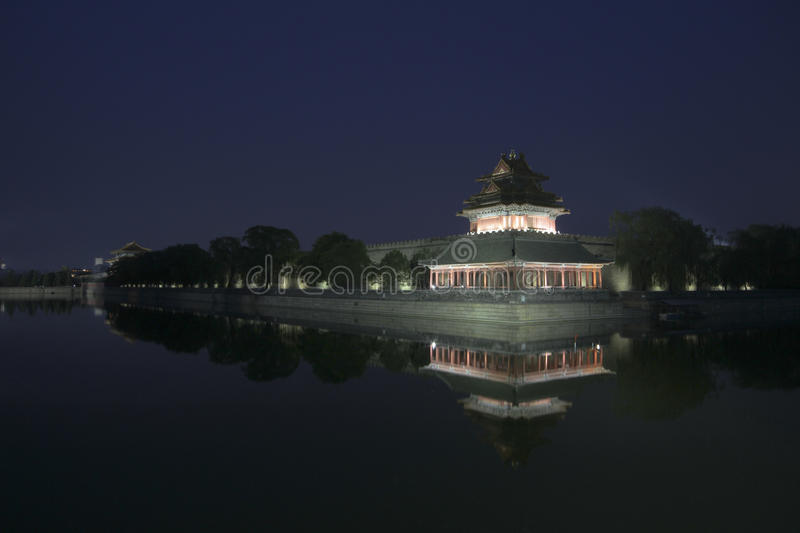 Night view of Forbidden City royalty free stock photography
