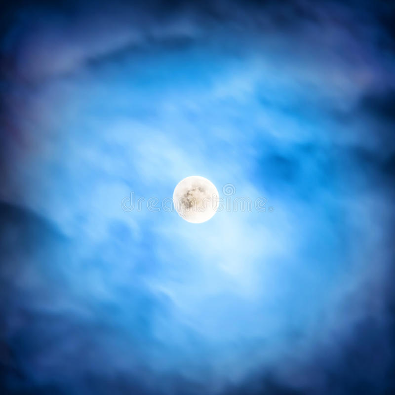 Night view at the full moon stock image