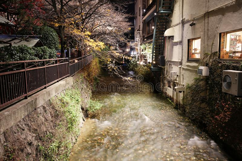 Night view of Gion district, Kyoto, Japan. Night view of the Gion district, Kyoto, Japan stock photo