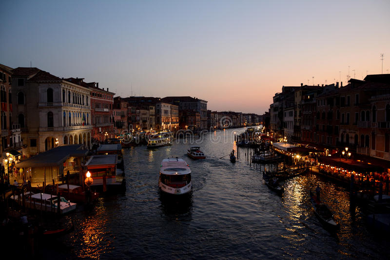 Download Night View On Grand Canal In Venice, Italy Editorial Photo - Image: 83705821