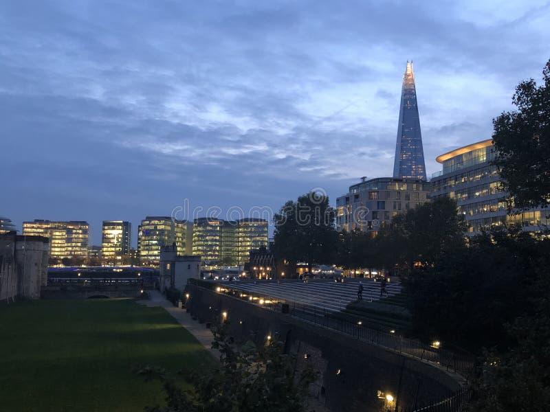 Night view of London stock photos
