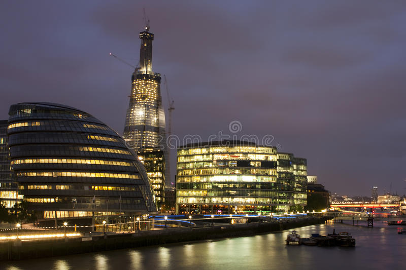 Night view of the London City Hall. Photo taken in UK stock photos