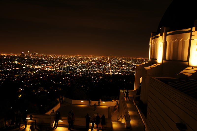 Download Night View Of Los Angeles From Griffith Park Stock Photo   Image  Of Stripes, Nice Ideas
