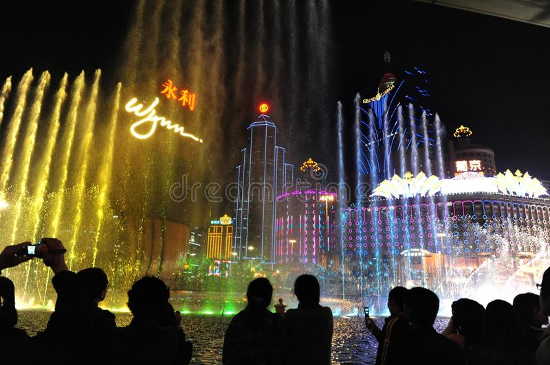 Night View Of Macau Editorial Photography