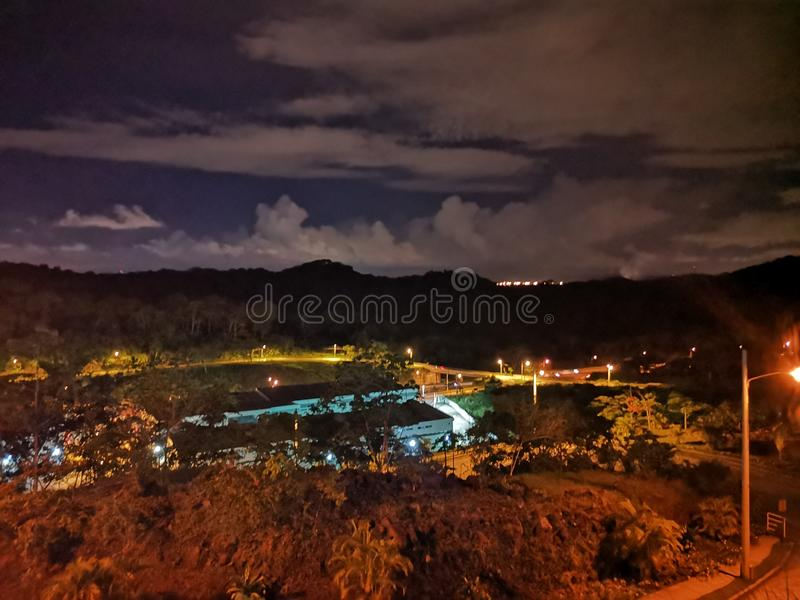 Night view from the mountains stock image