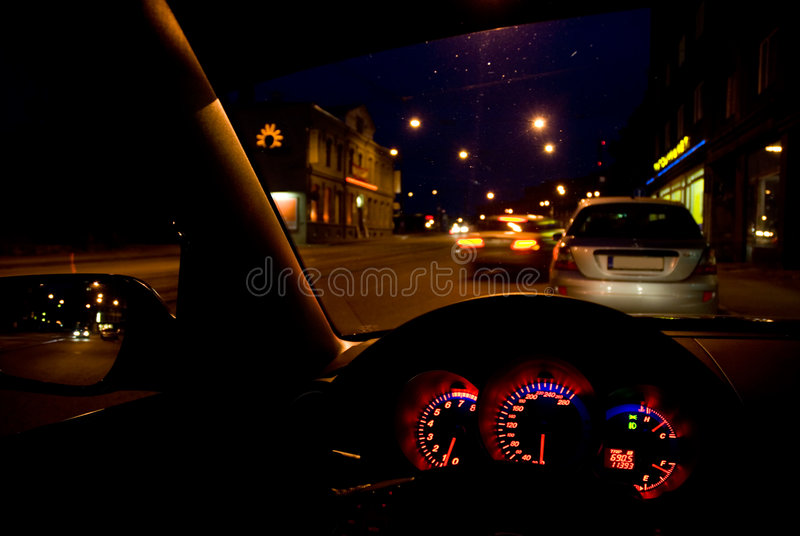 Download Night View Out Of Windshield Stock Photos - Image: 2506723