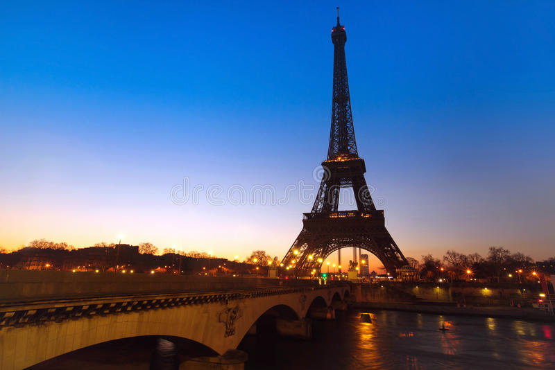 Night view of Paris royalty free stock photography