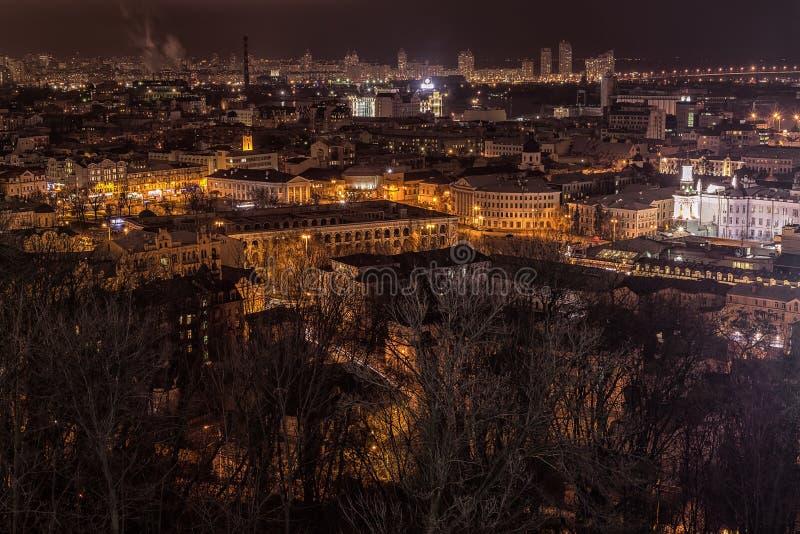 Night view Podol royalty free stock photos
