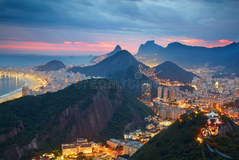 Night view of Rio de Janeiro. Brazil stock photography