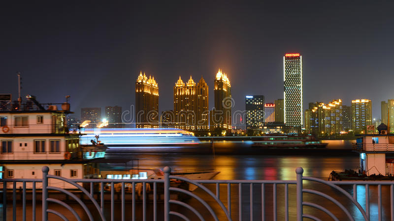 Night view of the river royalty free stock photography