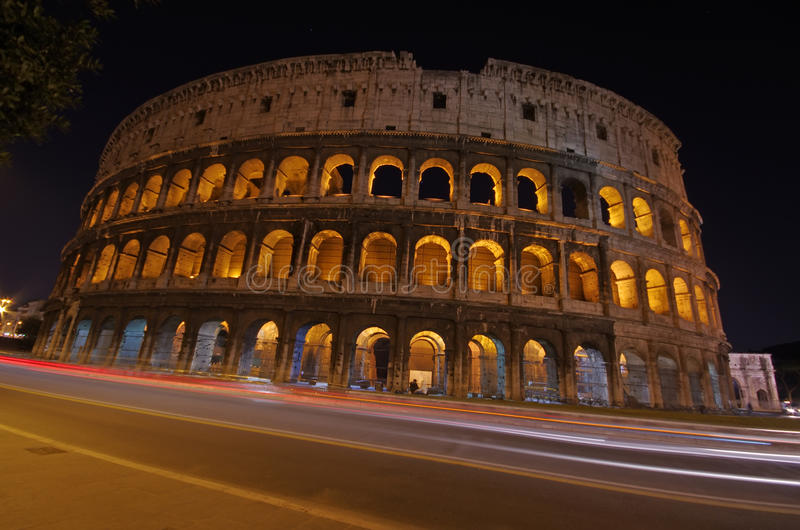 Download Night view in Rome stock image. Image of exterior, ancient - 20670447