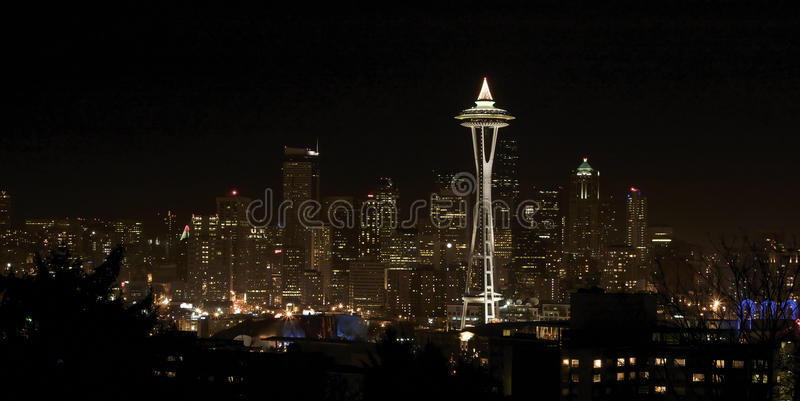 Download Night View On Seattle Downtown Stock Image - Image: 10854981