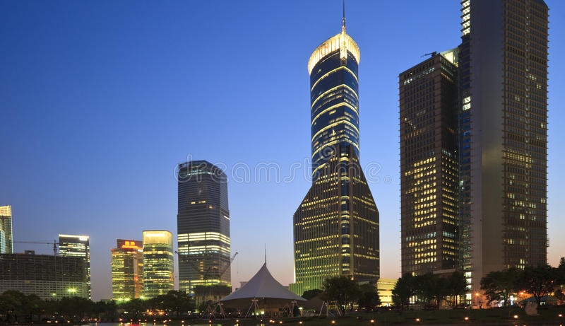 Night view of shanghai royalty free stock image