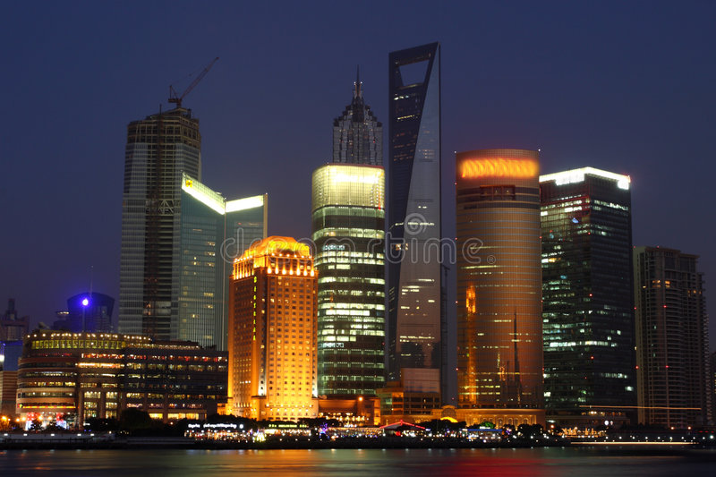 Night View of Shanghai stock images