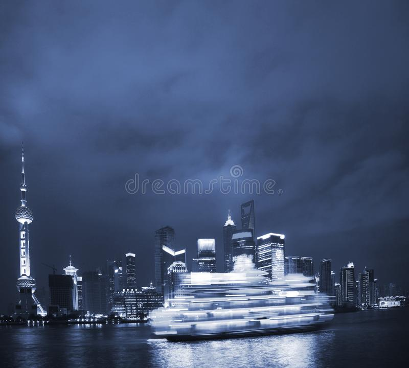 Download Night view of shanghai stock photo. Image of night, skyscraper - 8488488