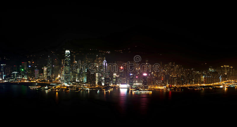 Download Night view from SKY 100 stock image. Image of high, kong - 21212571