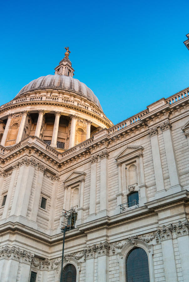 Night view of st Paul Cathedral in London royalty free stock images