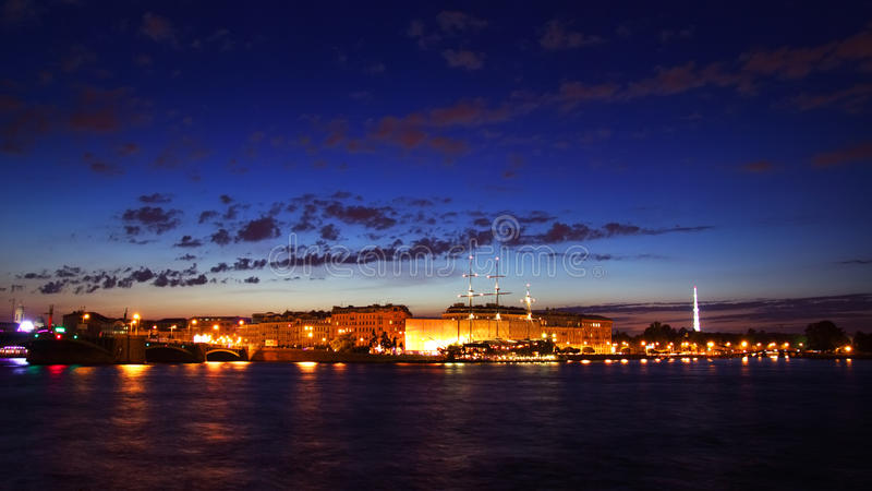 Download Night View Of St Petersburg Stock Photo - Image: 26034536
