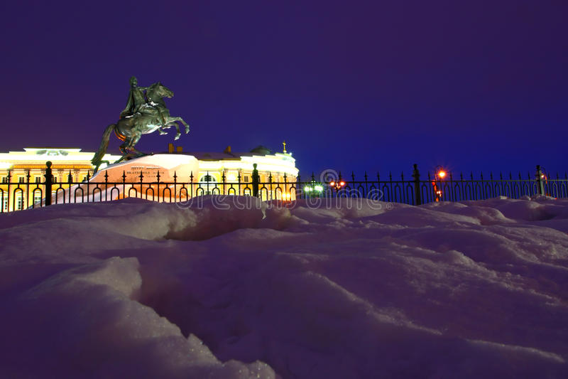 Night view of St. Petersburg royalty free stock photography