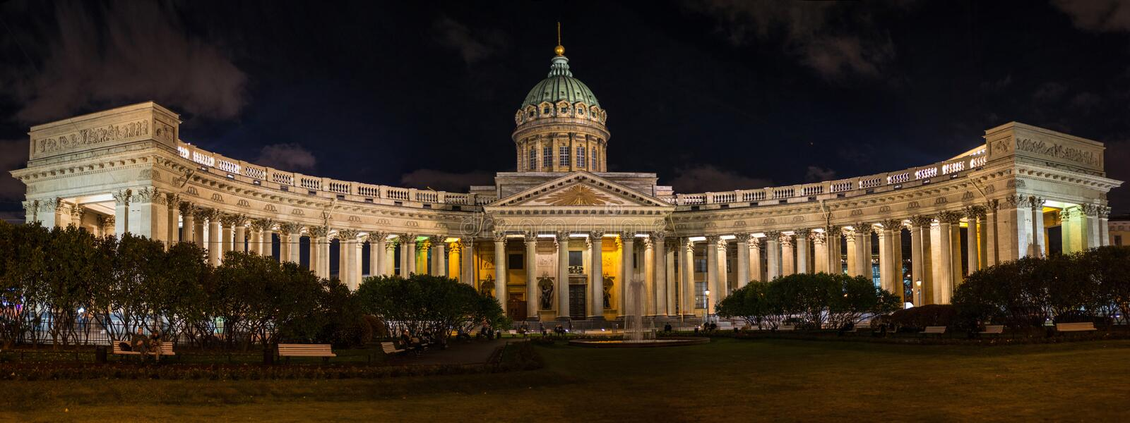 Night view of St. Petersburg stock photography