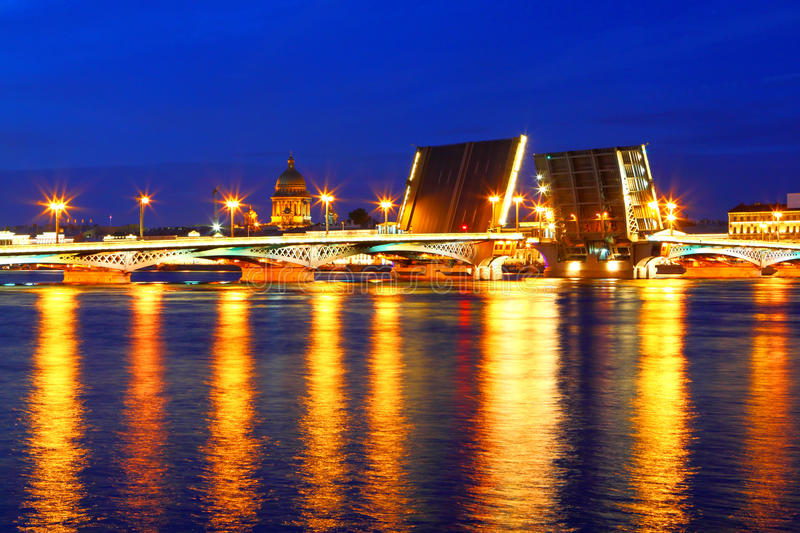 Night view of St Petersburg. Russia stock photos