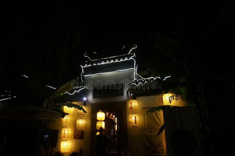 Night view, suzhou city, china royalty free stock image