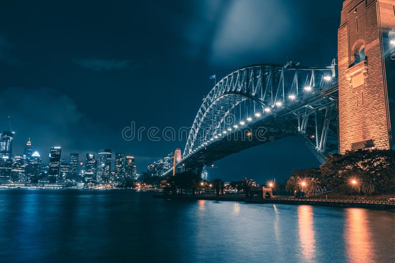 Night view of Sydney royalty free stock images