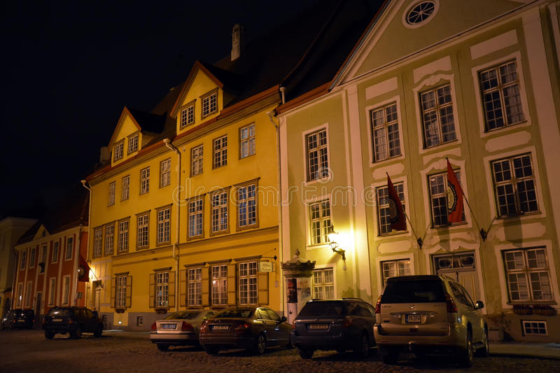Download Night view of Tallinn city editorial photo. Image of baltic - 35383261