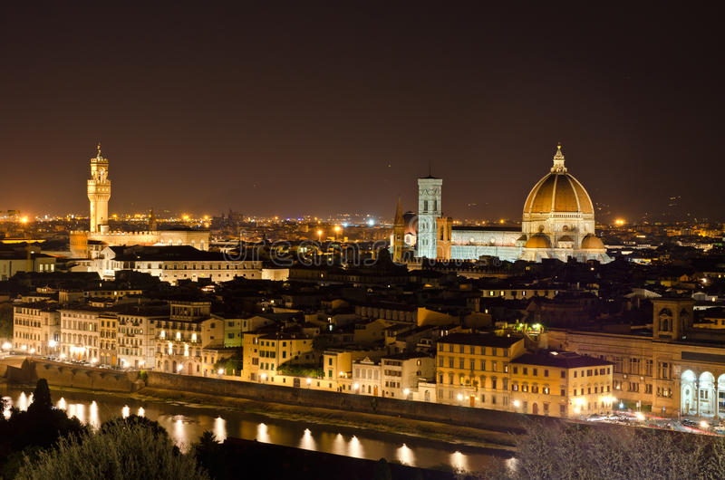 Download Night View To Florence Skyline, Tuscany, Italy Stock Image - Image: 21621729