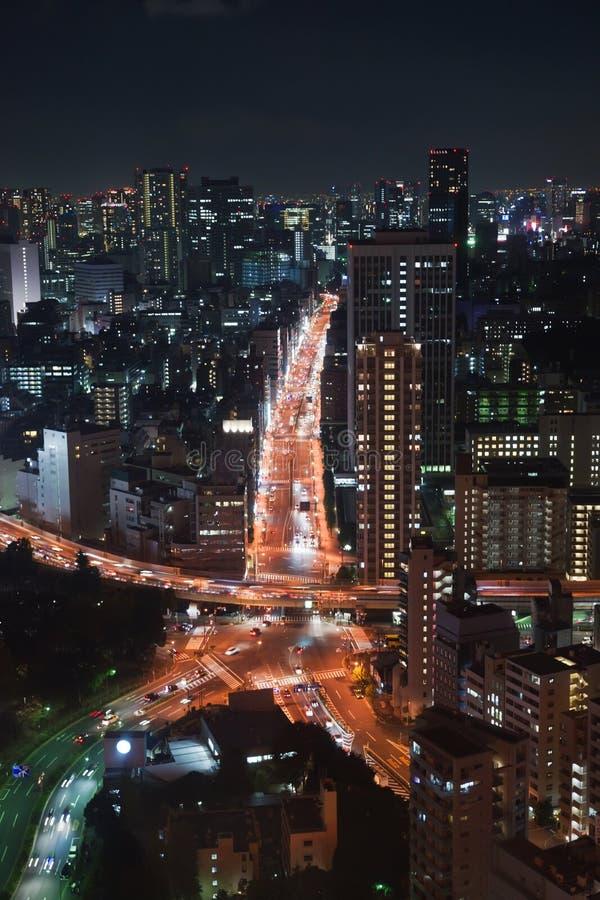 Night view of Tokyo stock photos