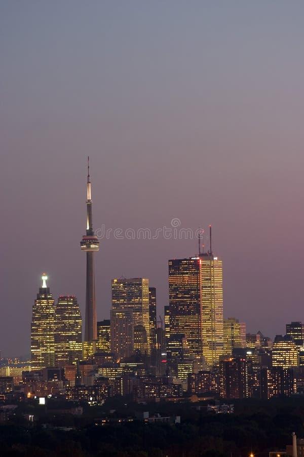 Night view of Toronto stock photos