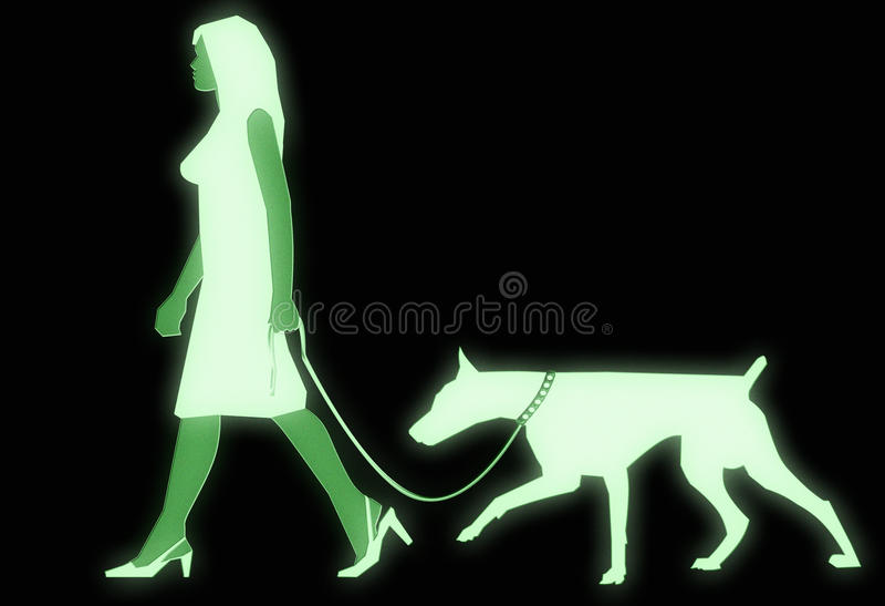 Download Night vision goggles stock illustration. Image of dobberman - 10938738