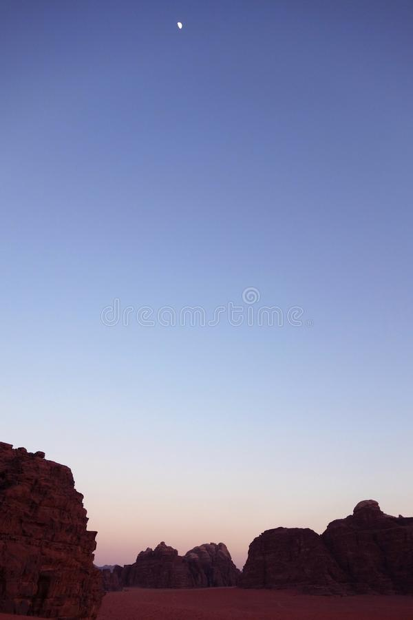 Night at Wadi Rum royalty free stock photo