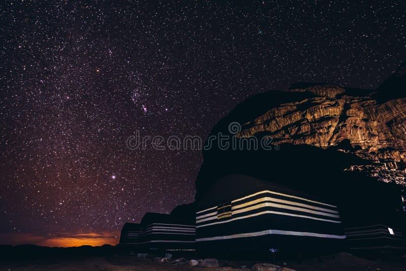 Night in Wadi Rum royalty free stock photos
