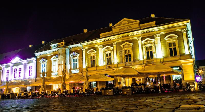 Timisoara by night 1 stock photos