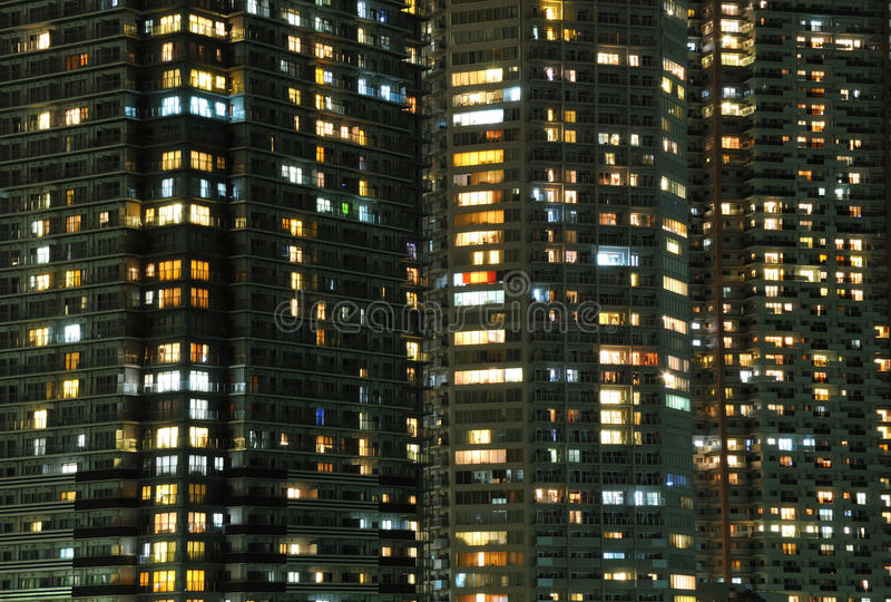 Night windows royalty free stock photo