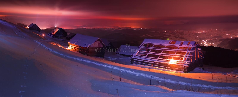 Download Night winter landscape stock image. Image of nature, season - 21318971