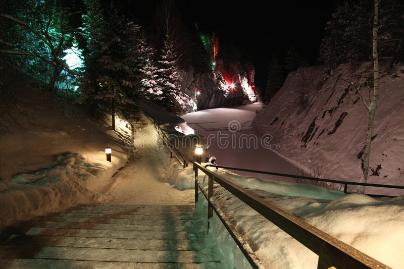 Download Night, Winter Season On Marble Mt Stock Image - Image: 22632233