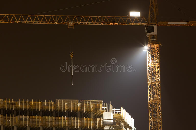 Night work royalty free stock images