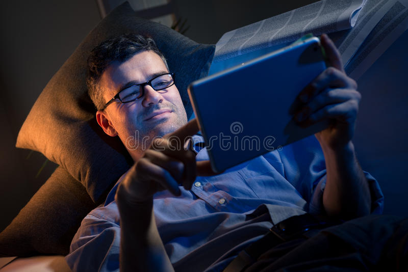 Night work at home royalty free stock photography