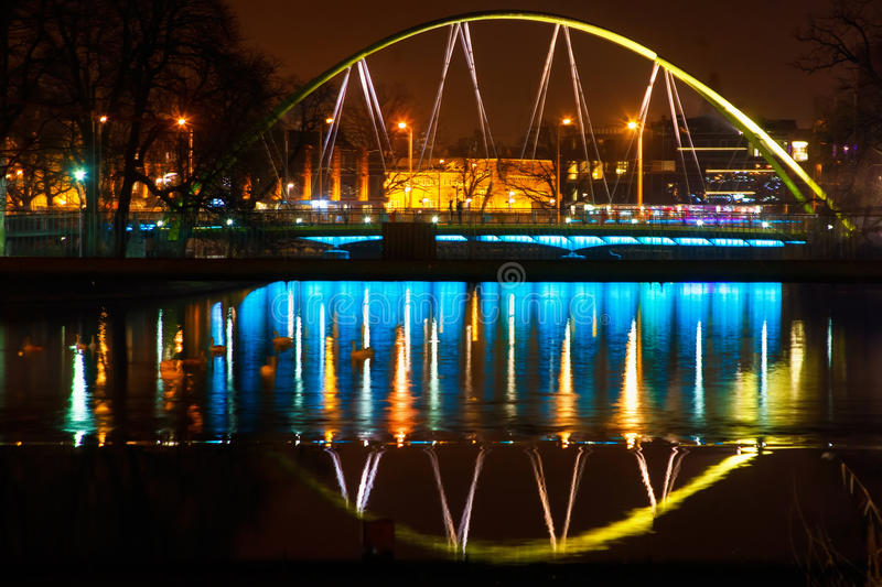 Night in Wroclaw stock photography