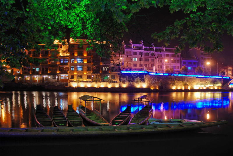 Download Night By Zhenjiang Royalty Free Stock Photography - Image: 9729567